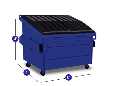3 Yard Dumpster With Lids