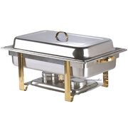 8 Qt. Full Size Gold Accent Chafer