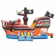 "Inflatable # 5 ""Pirate Ship Bounce House and Slide Combo"""