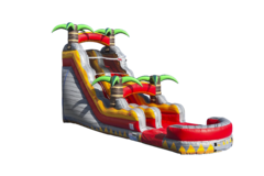 18 Foot Tropical Lava Crush Water Slide