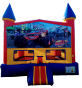 Castle Monster Trucks Bouncer