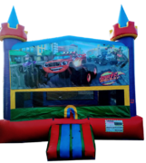Lucky Monster Trucks Bouncer