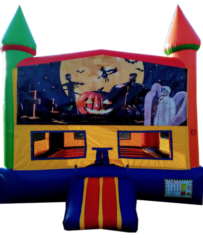 rainbow halloween bouncer