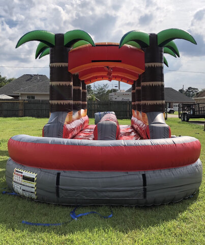 28 Foot Long Dual Lane Slip & Slide