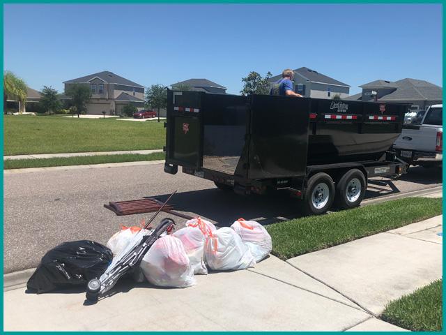 941 Dumpsters Curbside Load N GoJunk Removal Trash Removal Sarasota Bradenton