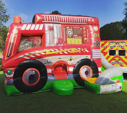 Fire Truck Combo Bounce House, Providence Forge, VA