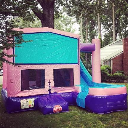 Pink Modular 6-in-1 Combo Bounce House, Williamsburg, VA