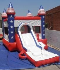 Stars and Stripes w/ Slide, Hoop, and Water Tub