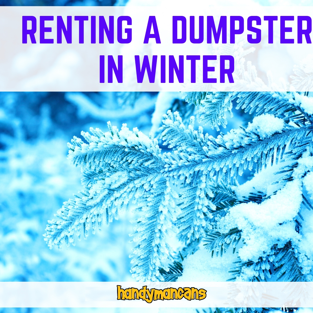 Handyman Cans Renting a Dumpster in Winter