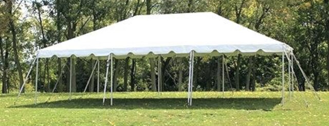 20 x 40 White Top Frame Tent