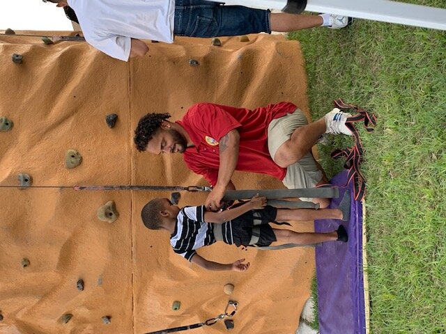 Rock Wall Rental With Staff Member