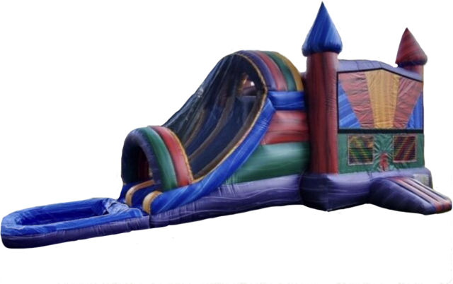 Marble Bounce House with Double Slide