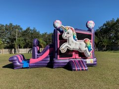 Unicorn Bouncer With Slide