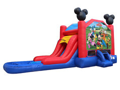 Mickey Mouse Club House Bounce House With Waterslide