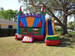 Marble Bounce House With Front Slide