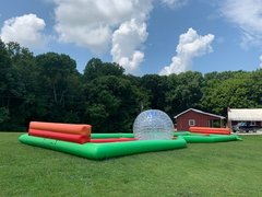 Inflatable100ft Long  Zorb Track