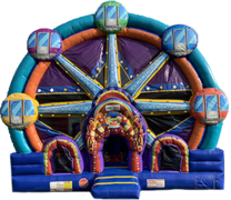 Ferris Wheel Bounce House With Slide