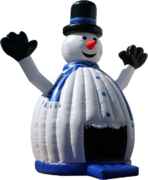 27 Foot Tall Inflatable Snowman Bounce House