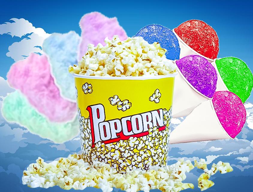 Concessions, Popcorn, Cotton candy, Sno-cone Machine rentals near me