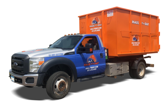Haul it a Day provides 20 Yard Dumpster rentals that fit in tight places. Protect your driveway and roads.