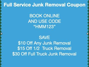We donate and recycle as much of your junk removal contents as possible.