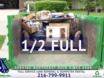 What does a 1/2 full truckload of full service junk removal look like at Haul-My-Mess.com Cleveland?
