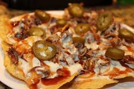 White Cheese BBQ Nachos
