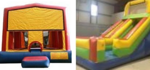 Dry Package: 18ft Slide and 15x15 Modular Bounce House