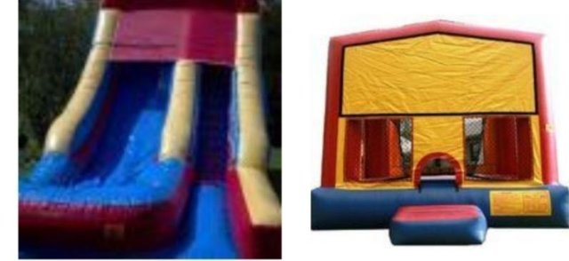 Dry Package 18ft Slide Dry and 13x13 Modular Bounce House