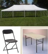 Tent 20X40 50 Chairs and 8 Tables