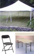 Tent 20X20  25 Folding Chairs  and 4 Tables package