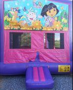Dora the explorer Panel Pink & Purple Bounce House 13x13