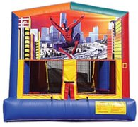 Spider man panel bounce house