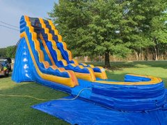 Giant Blue/Yellow 21 Foot Water Slide