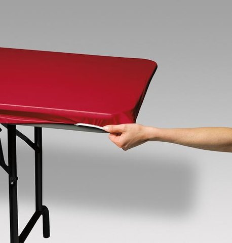 Solid Red Easy Cover for 6' Rectangular Table