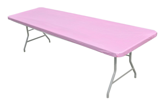 Solid Pink Easy Cover for 6' Rectangular Table