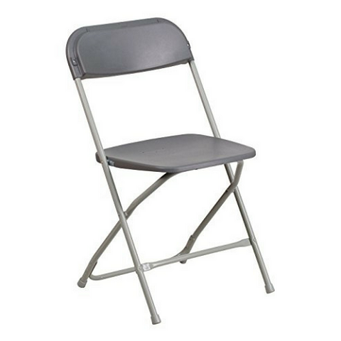 Package: Set of 10 adult gray chairs