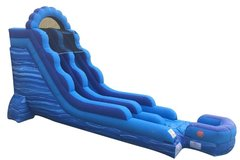 18 Foot Blue Marbel Slide  (Seated height approx 13 ft)