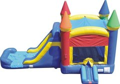 4-1 Multicolored Castle Combo Water Slide (7 ft slide)