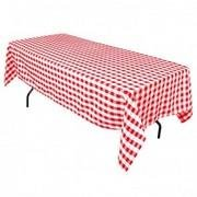 White/Red Checkered Rectangular Half Drop