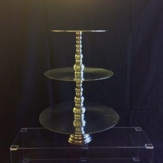 3-Tier Silver Pastry Stand