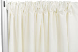 Ivory Standard Draping, 10' Wide, 11'-16' High