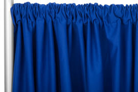 Blue Standard Draping, 10' Wide, 11'-16' High