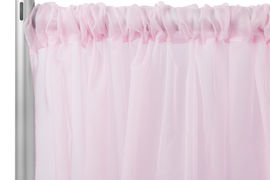 Pink Standard Draping, 10' Wide, 7'-10' High