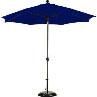 9ft Blue Umbrella With Base