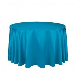Caribbean/Teal Satin Full Drop 120 Inch
