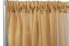 Gold Sheer Draping -10' Wide, 11'-16' High