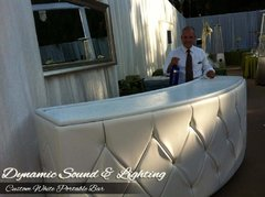 White 8ft Custom Bar