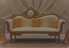 Gold Love Seat