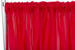 Red Sheer Draping -10' Wide, 11'-16' High